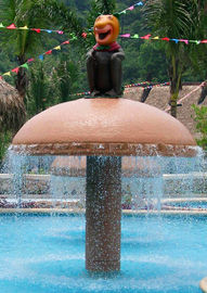 Ancient Mushroom Aqua Play Water Park Equipment / Water Spray Game
