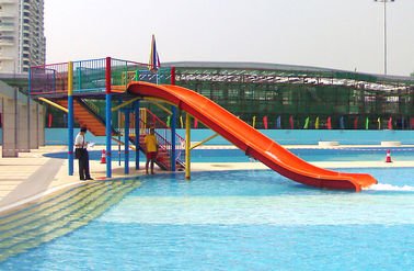 Mini Water Park Equipment Fiberglass Swimming Pool Slide For Kids Playground